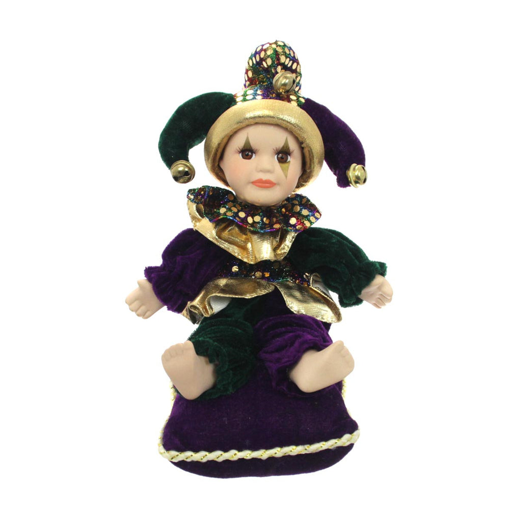 Mardi Gras Musical Doll Square Pillow