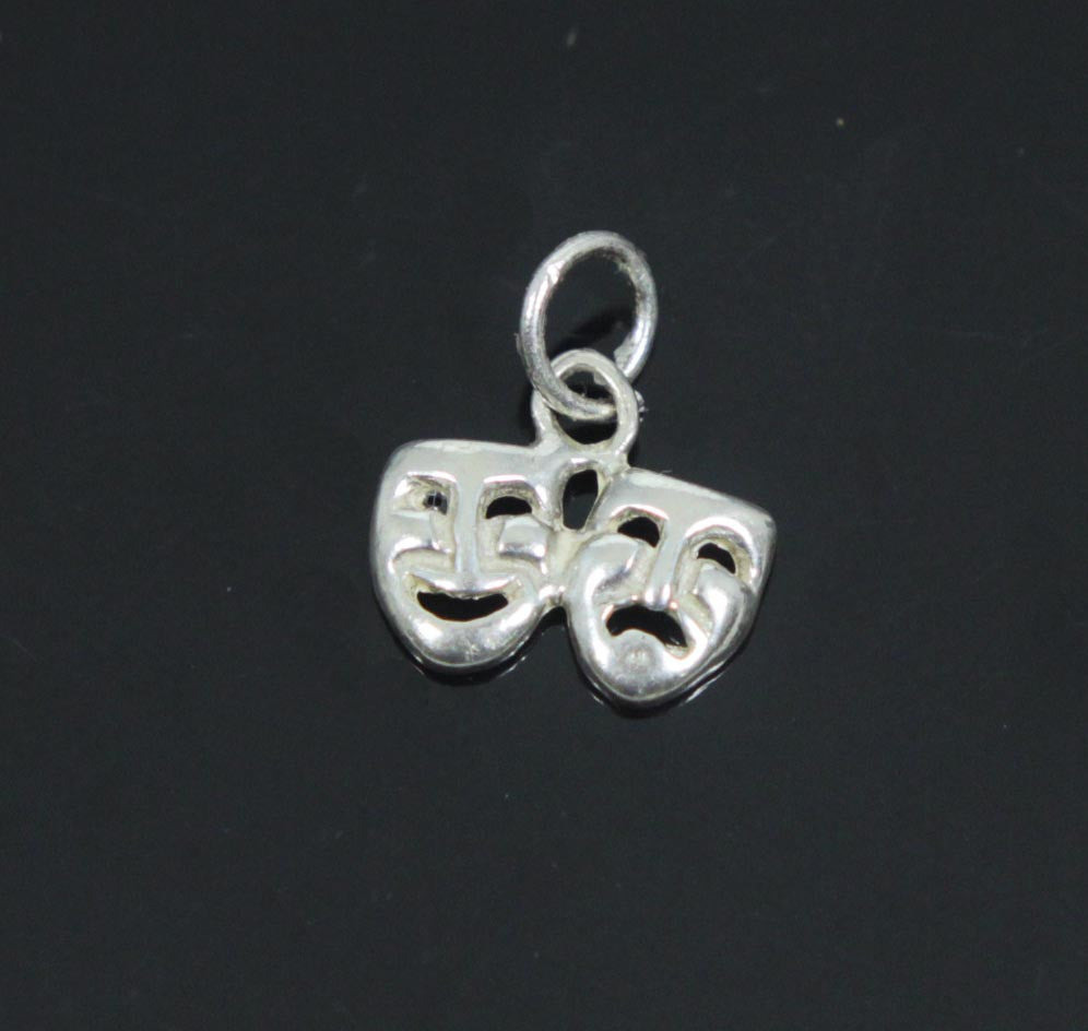 Comedy & Tragedy Charm Sterling Silver