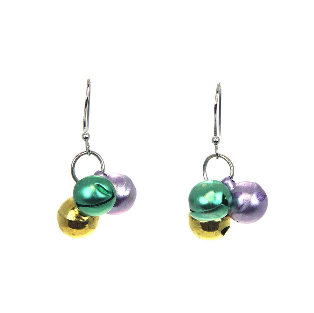 Mardi Gras Bell Earrings
