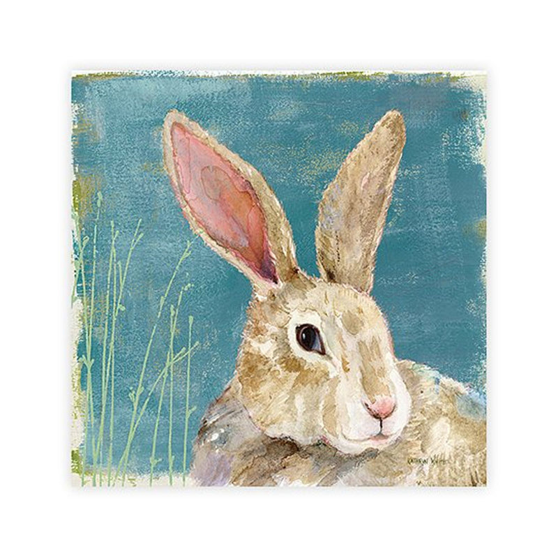 Colorful Bunny Paper Cocktail Napkin