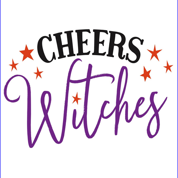 """CHEERS Witches"" Paper Cocktail Napkin"