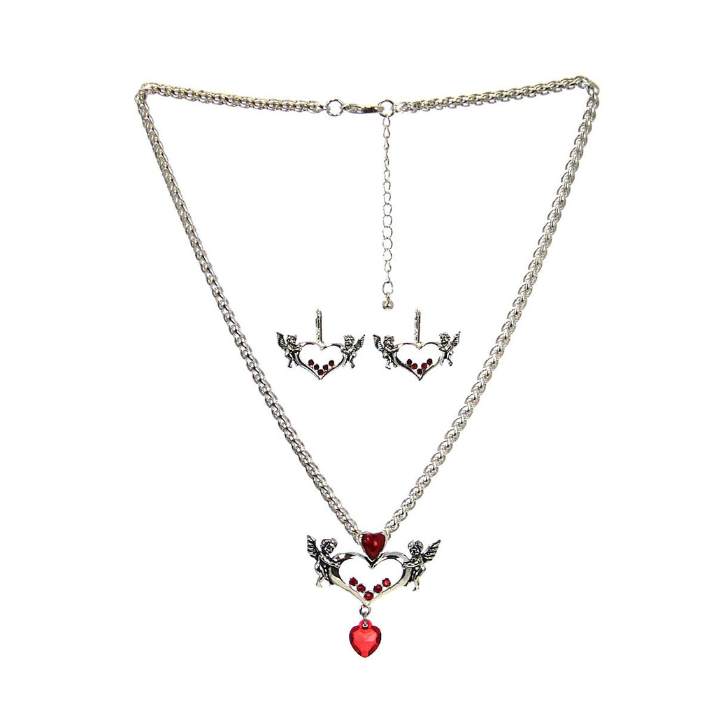 Cupid Necklace & Earrings Set