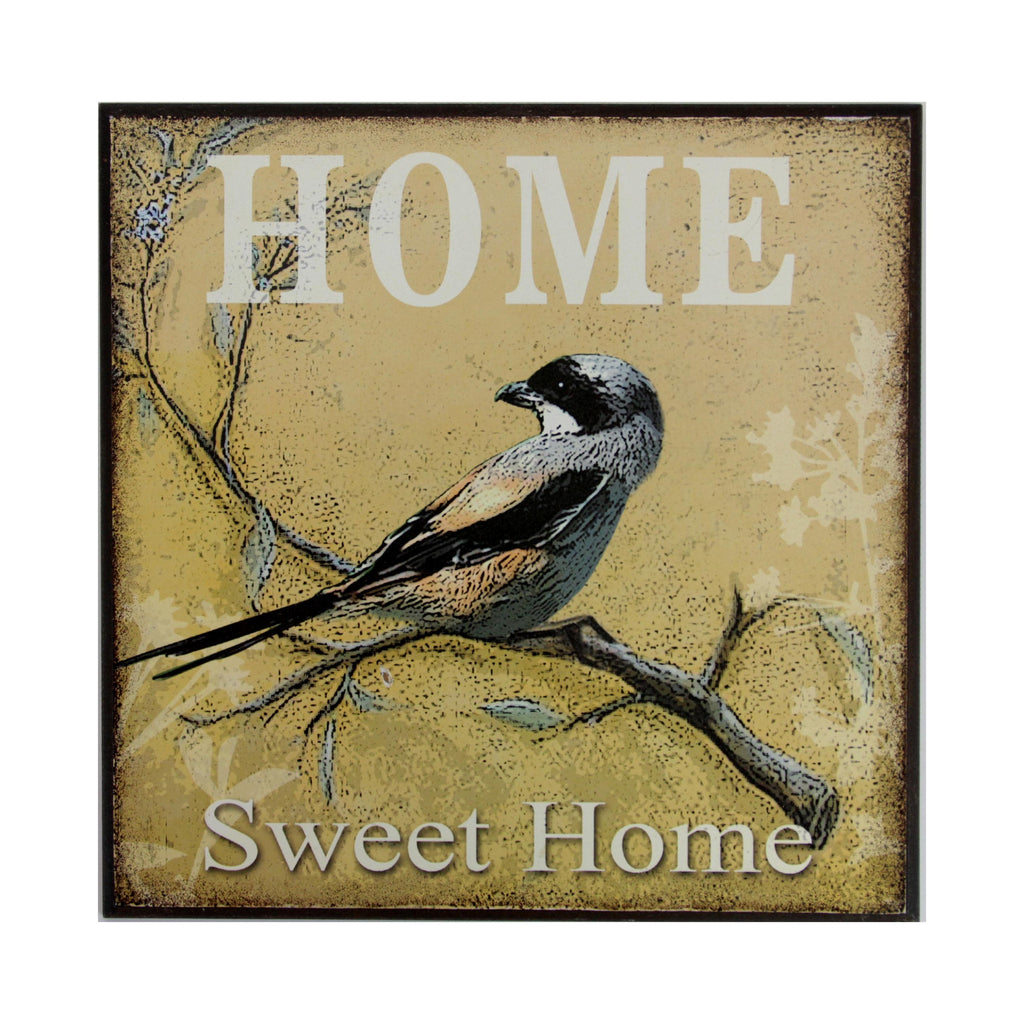 Bird Wall Plaque Home Sweet Home