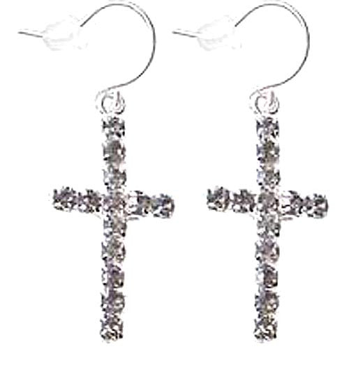Cross Earrings Smoke