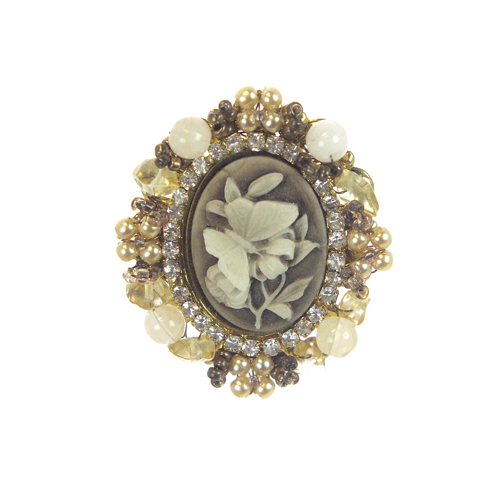 Cameo Butterfly Pin