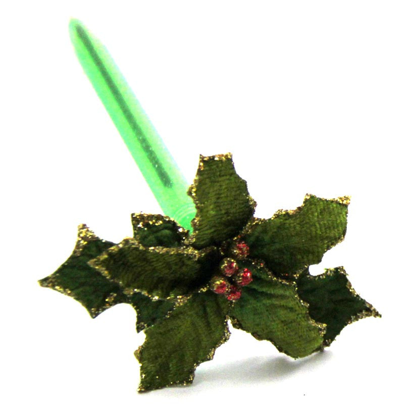 Poinsettia Ink Pen Green