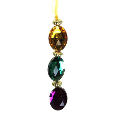 Jeweled Hanging Ornaments Oval