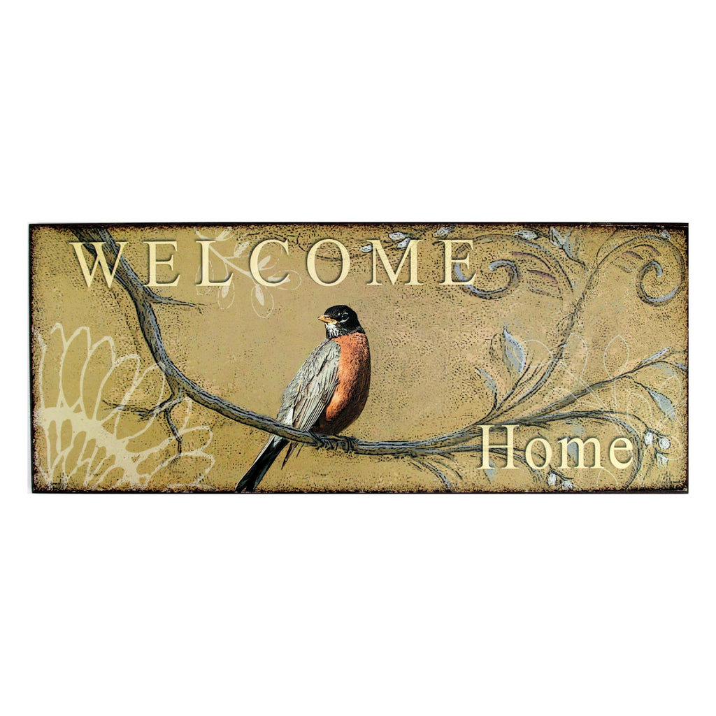 Bird Wall Plaque Welcome Home