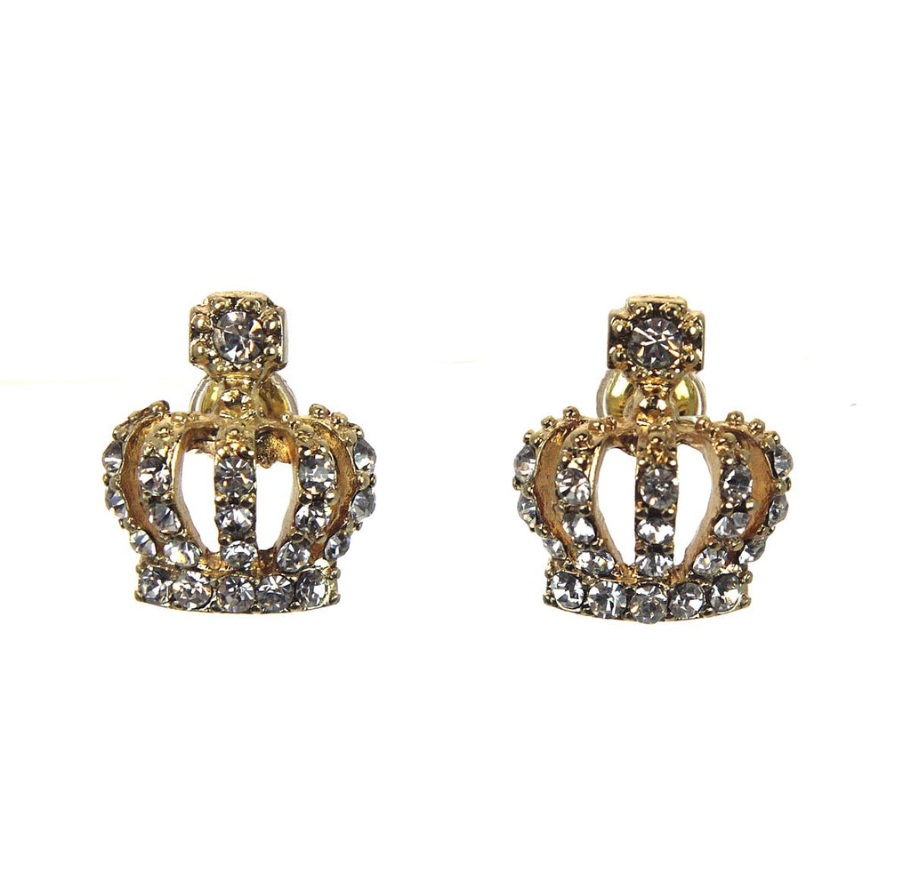 Crown Crystal Stud Earrings
