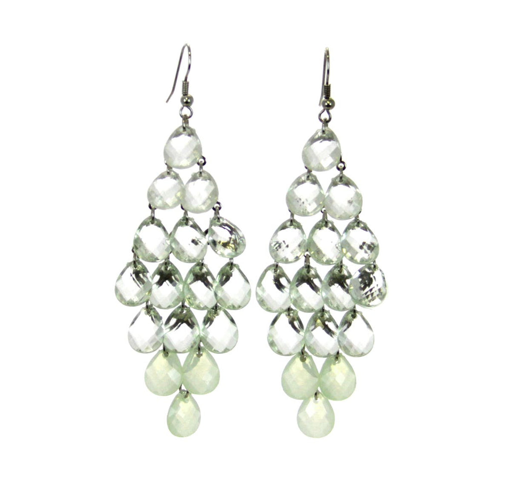 Chandelier Earrings - Light Green