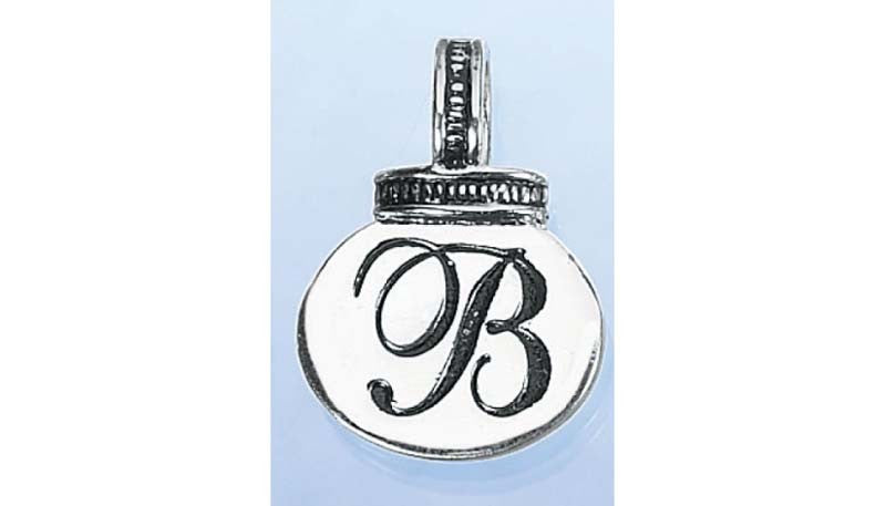 Initial Necklace/Keyring Charm - B