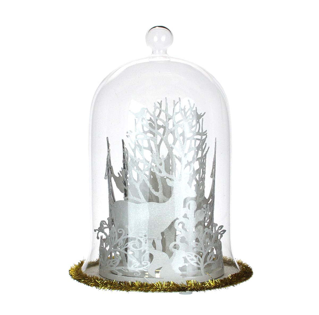 Cloche Scene Glass Lights Up
