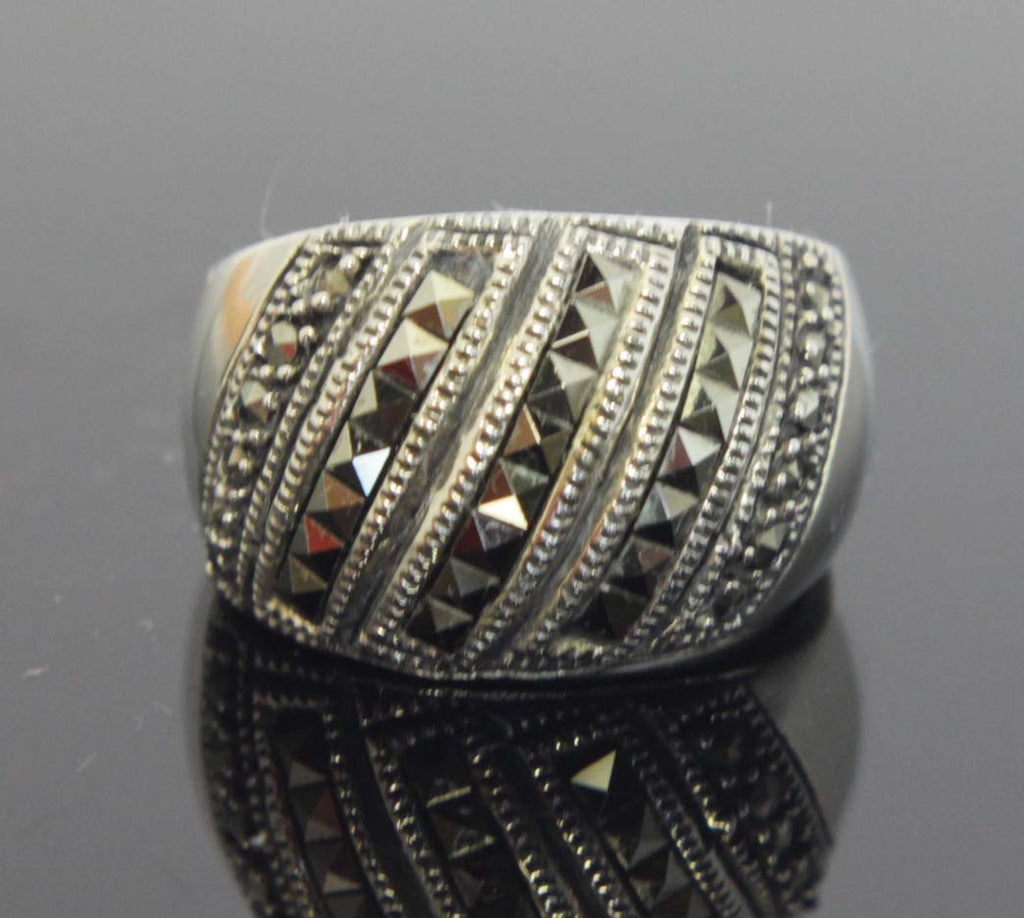 Sterling Silver Marcasite Size 6.5