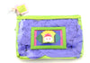 Mardi Gras Cosmetic Bag White Mask