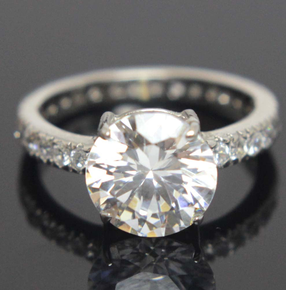 Sterling Silver Diamond CZ Ring Size 7