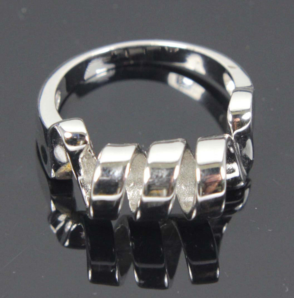 Sterling Silver Ring Ribbon Size 8.5