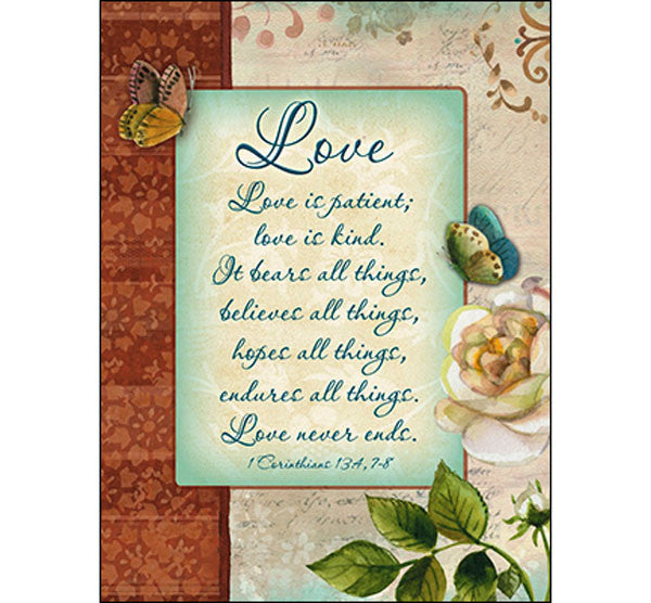 Wedding Card-Love is Patient