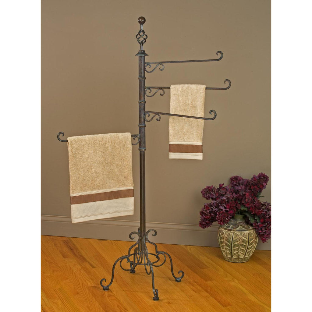 4-Arm Adjustable Towel Rack