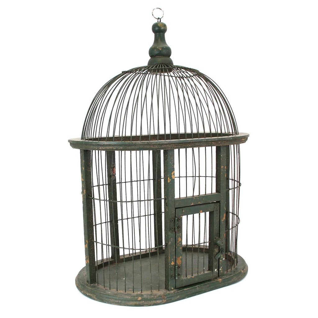 Birdcage Planter large green
