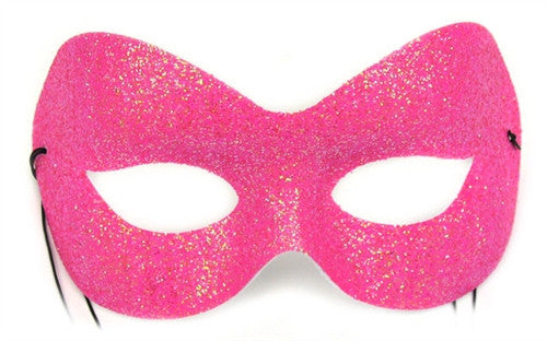 Fashion Glitter Hot Pink Mask