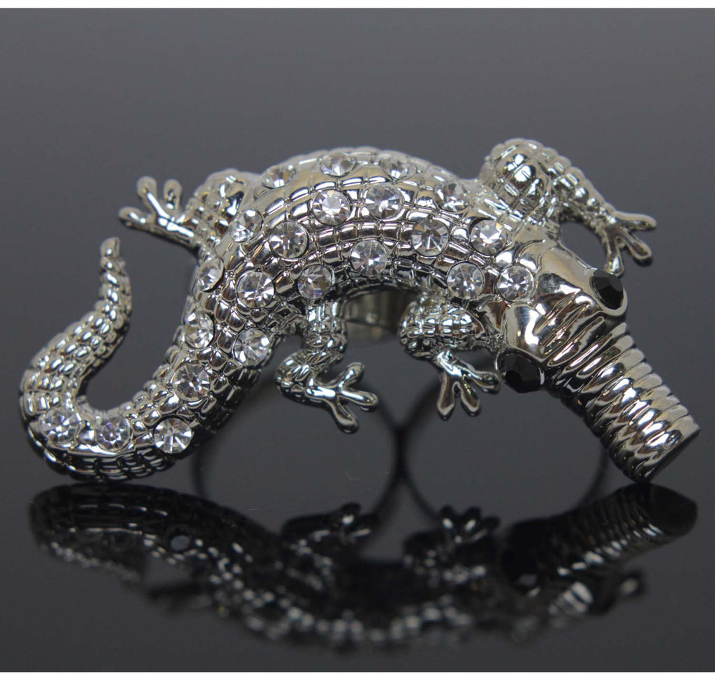 Alligator 2 Finger Ring