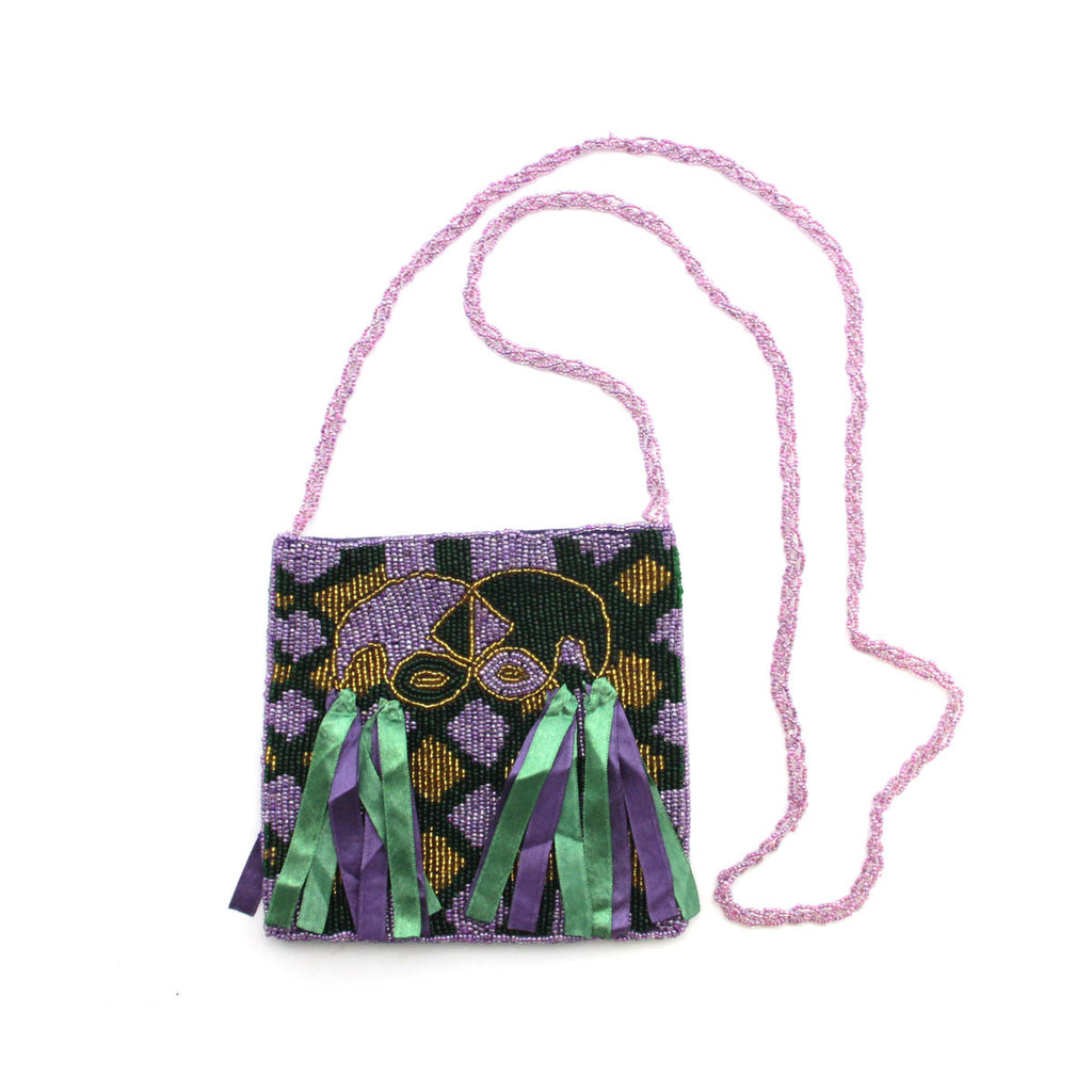 Jester Mask Handbag Purple
