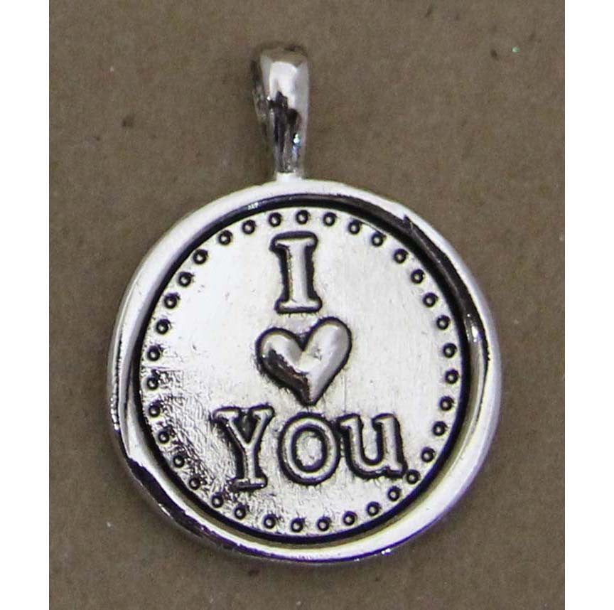 Charm Embossed I Heart You