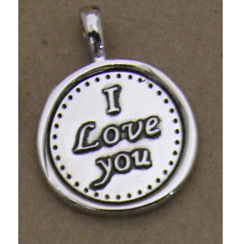 Charm Embossed I Love You