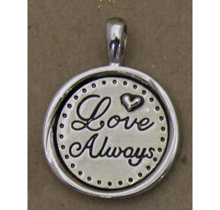Charm Embossed Love Always