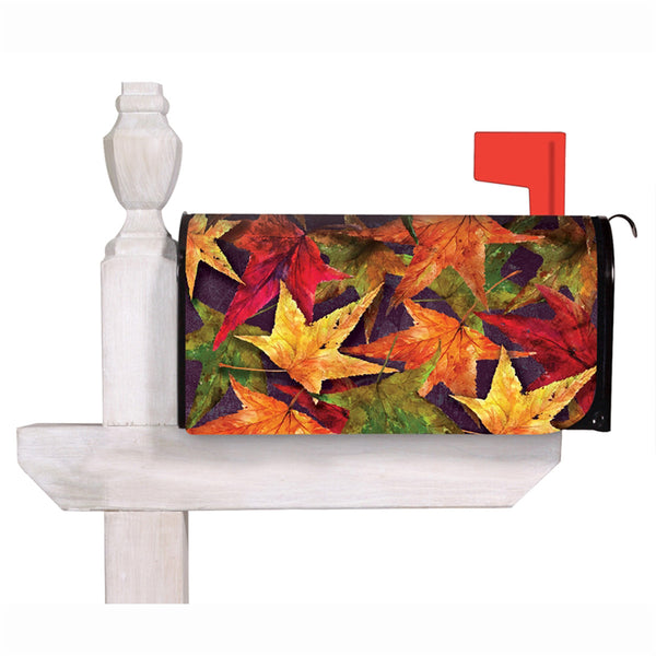 Autumn Harvest Leaves Mailbox Cover
