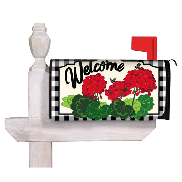 Geranium Plaid Mailbox Cover