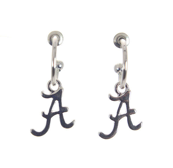 Alabama Logo Hoop Earrings