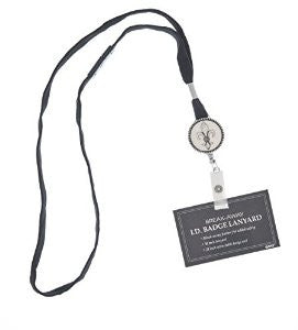 Fleur De Lis Breakaway Badge Id Holder Reel