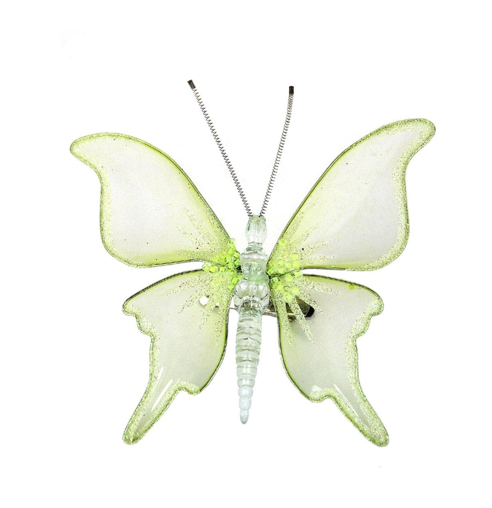 Butterfly Clip Ornament Green
