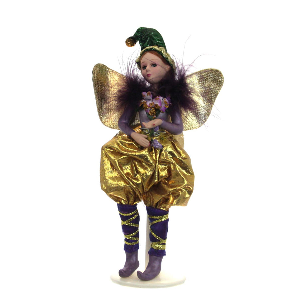 Celebration Mardi Gras Doll Gold