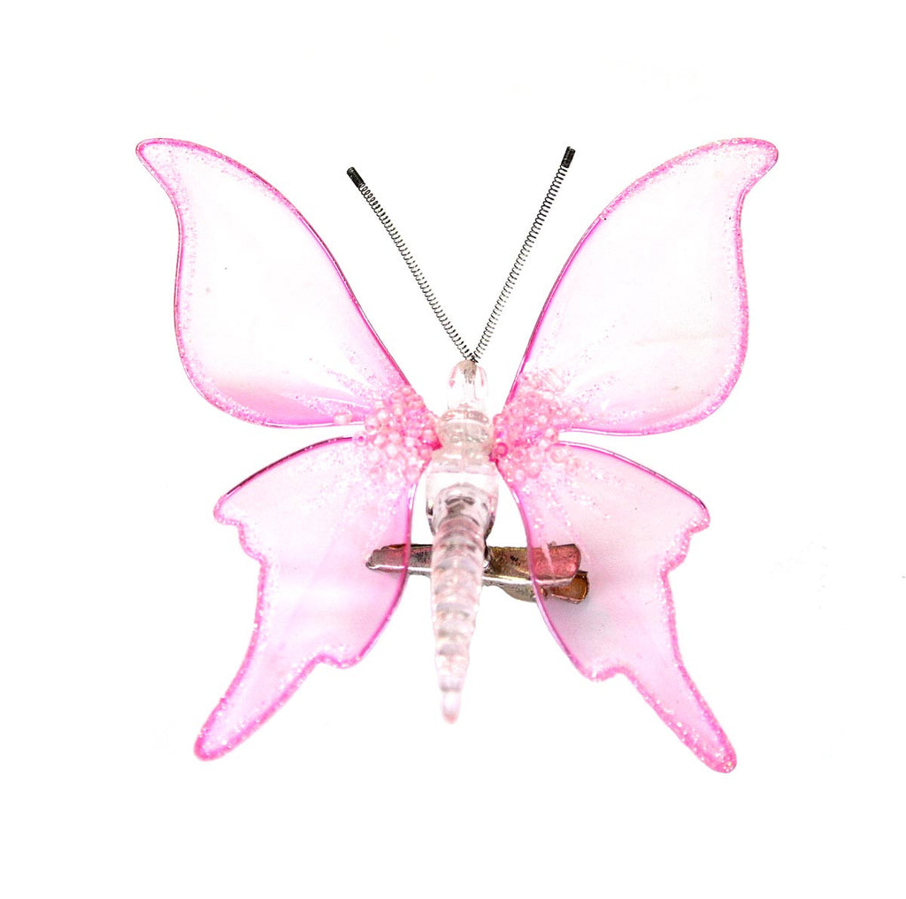 Butterfly Clip Ornament Pink
