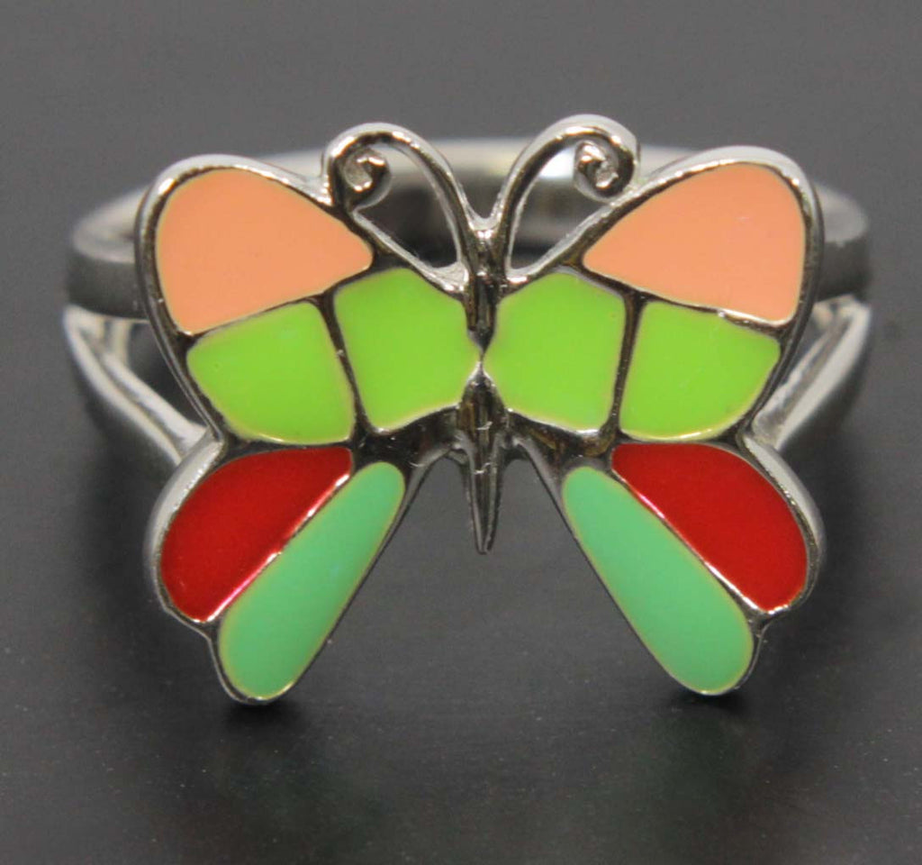 Butterfly Ring Sterling Silver Size 8