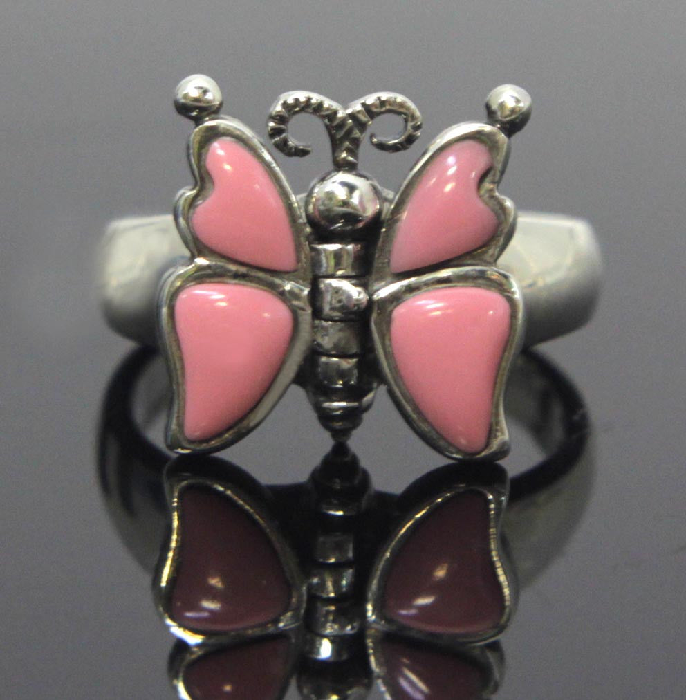Butterfly Ring Sterling Silver Size 8.5