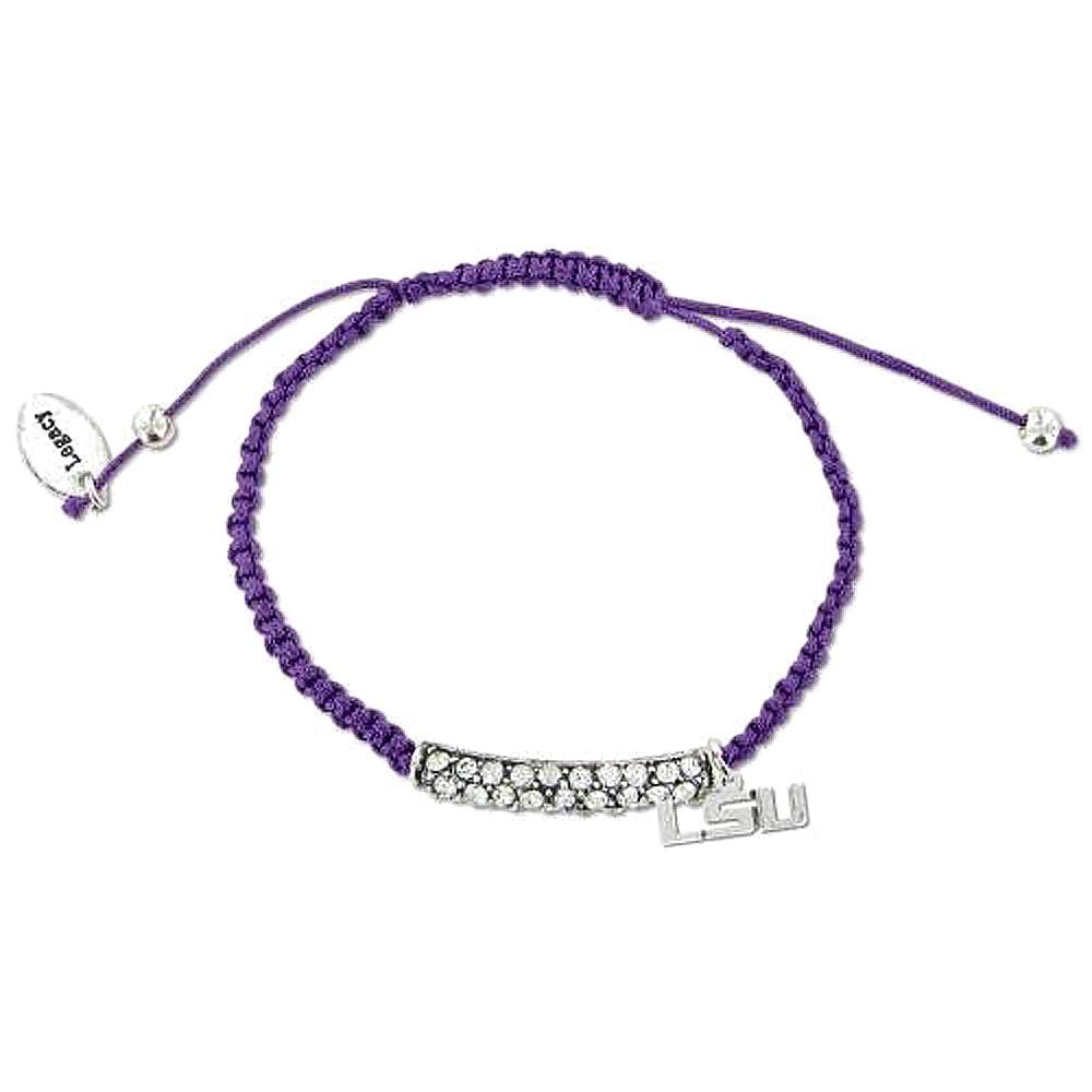 Friendship Bracelet with Rhinestones LSU
