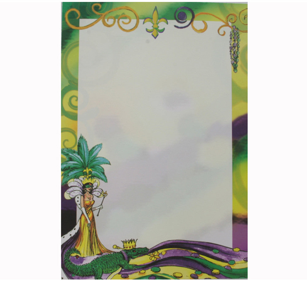 Mardi Gras Queen Invitations