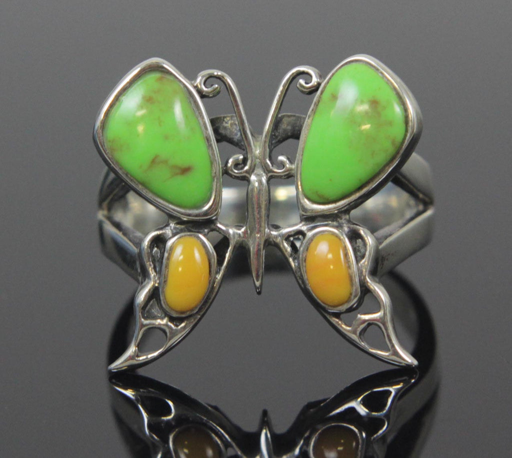 Butterfly Ring Sterling Silver Size 6