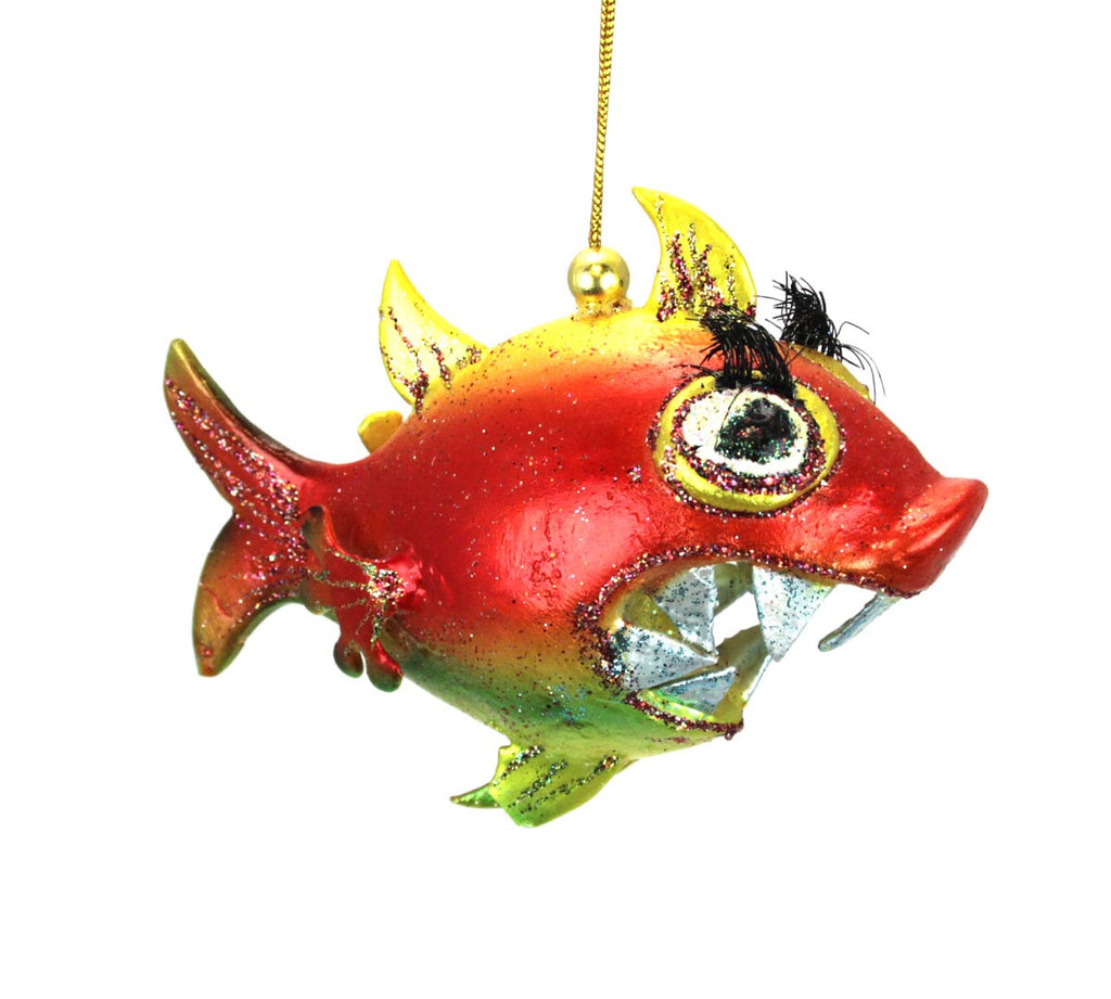 Fish christmas ornaments - Blue Whale Ornament 16 00 Chompers Piranha Large