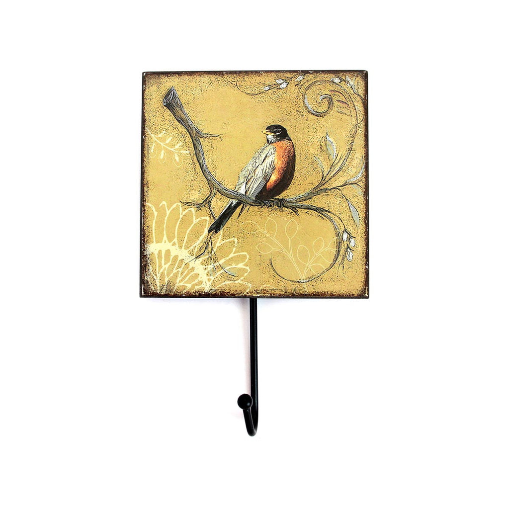 Bird Wall Hook brown