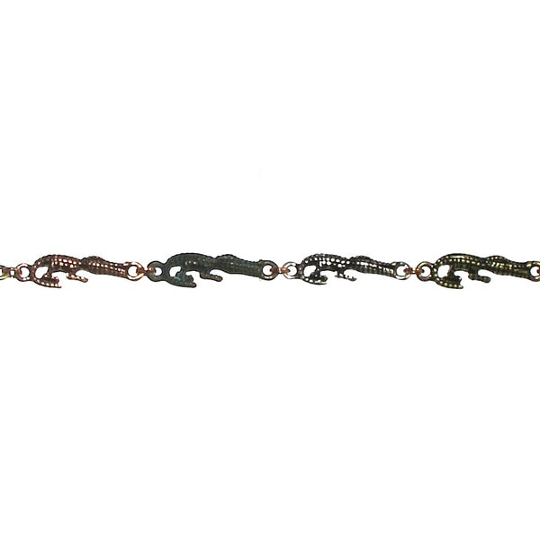 Mixed Metal Gator Bracelet