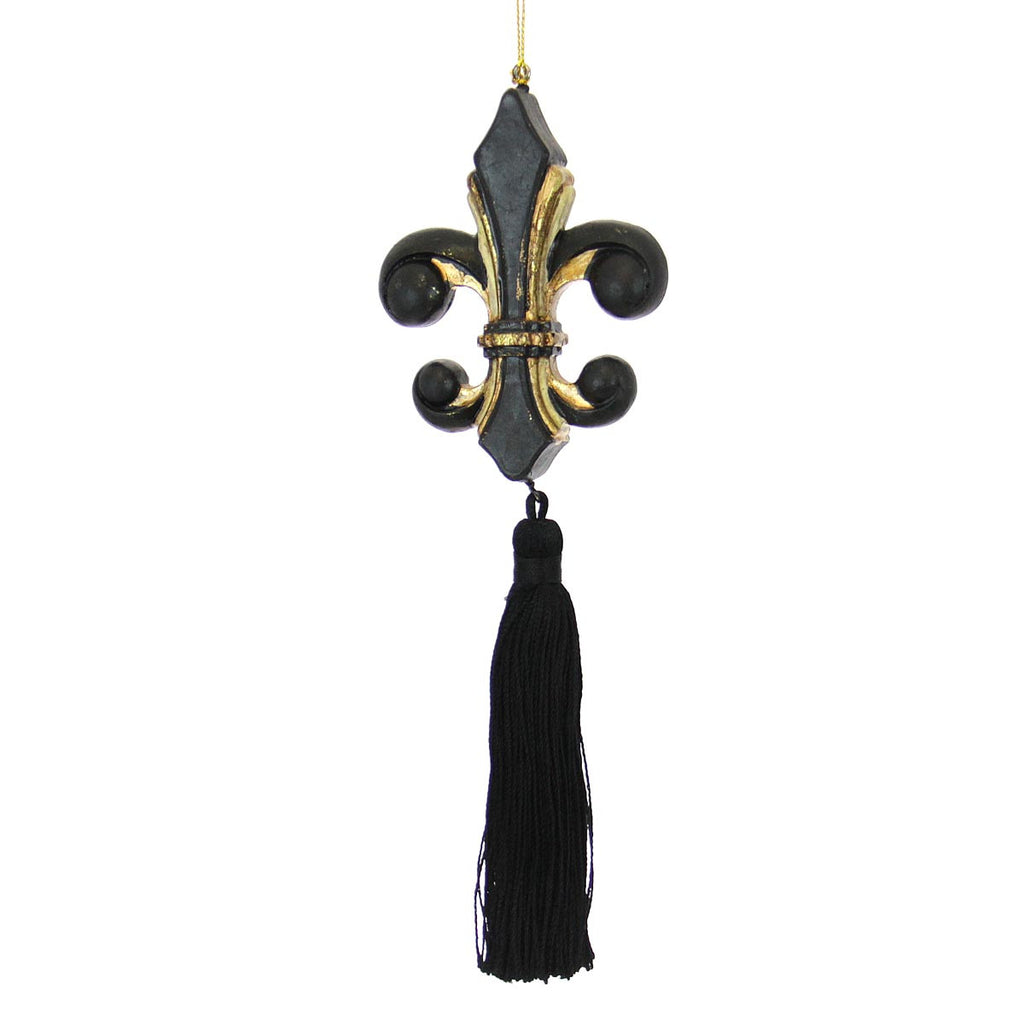 Fleur De Lis Ornament with Tassle