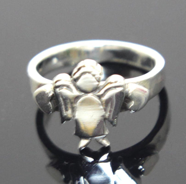 Angel Ring Sterling Silver Size 6