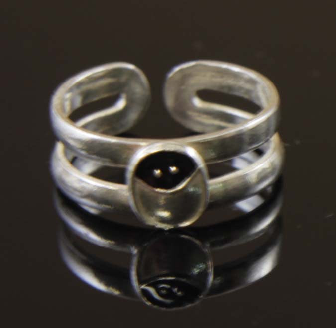 Sterling Silver Ladybug Toe Ring