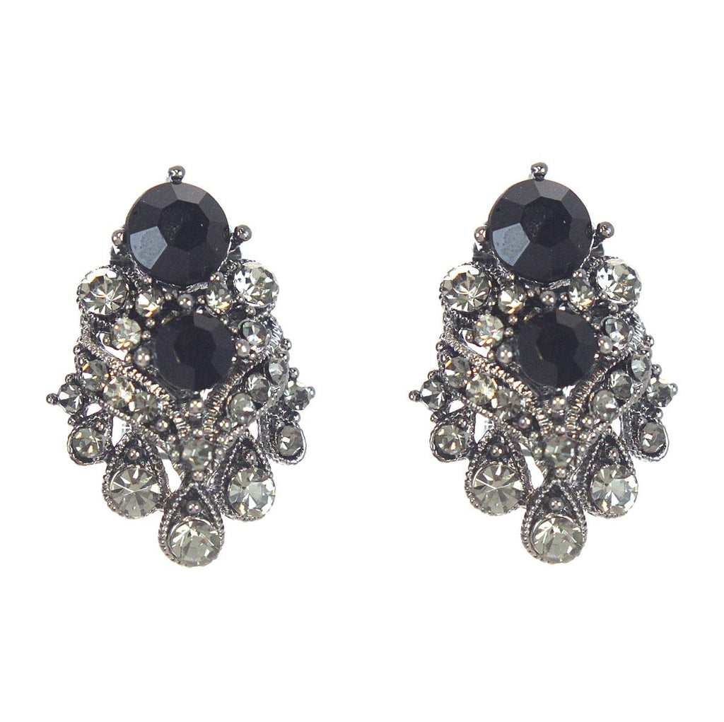 Onyx Clip Earrings