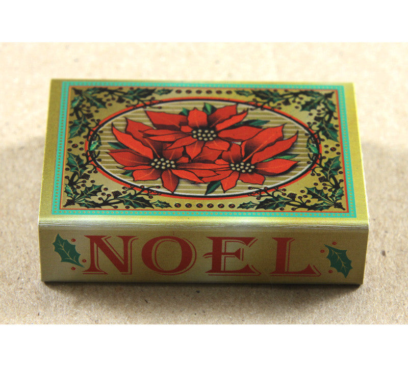 Christmas Matchbox Cover - Small - Poinsettia