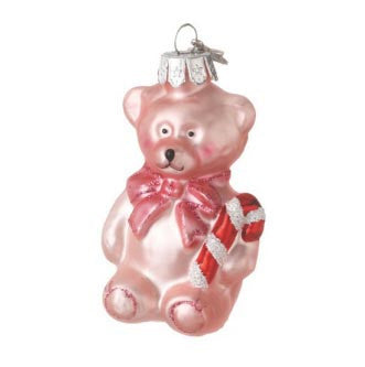 Bear Baby Ornament Girl Pink